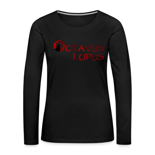 Octavus Lupus - Logo Rouge - T-shirt manches longues Premium Femme