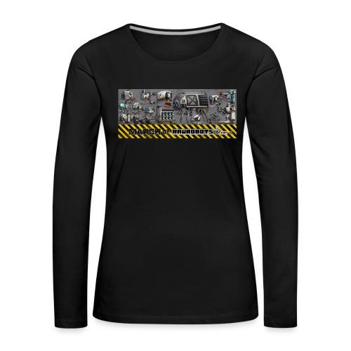 #MarchOfRobots ! LineUp Nr 1 - Dame premium T-shirt med lange ærmer