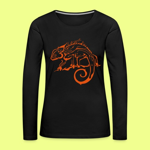 iguana - Camiseta de manga larga premium mujer