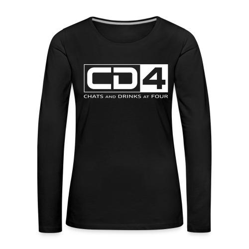 cd4 logo dikker kader bold font - Vrouwen Premium shirt met lange mouwen