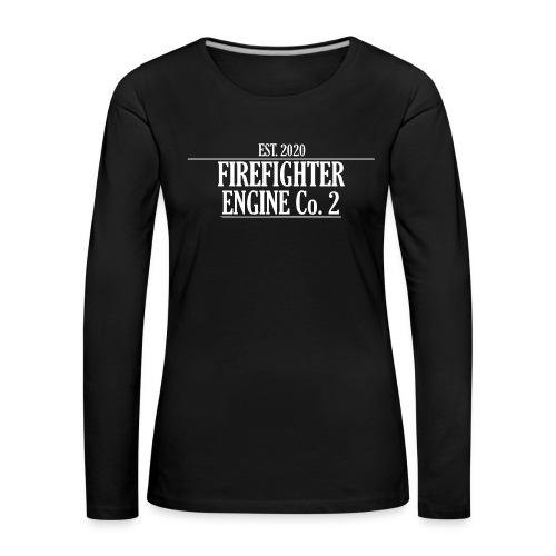 Firefighter ENGINE Co 2 - Dame premium T-shirt med lange ærmer