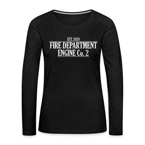 ENGINE Co 2 - Dame premium T-shirt med lange ærmer