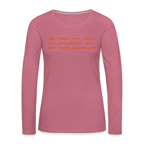 gingernuts - Naisten premium pitkähihainen t-paita