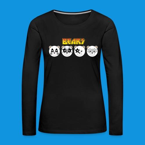 Kiss Bears.png - Women's Premium Longsleeve Shirt