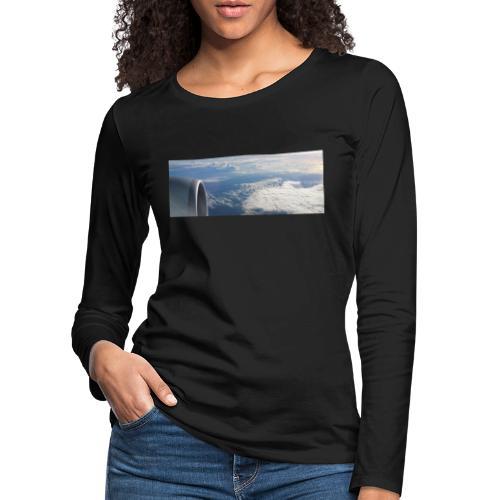 Flugzeug Himmel Wolken Australien - Frauen Premium Langarmshirt