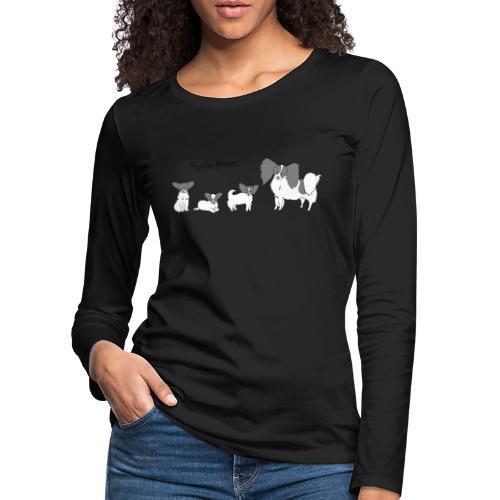 papillon forever - Dame premium T-shirt med lange ærmer