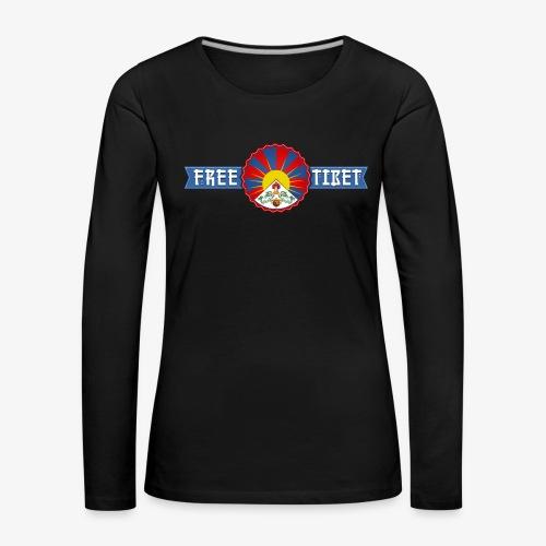 Free Tibet - Frauen Premium Langarmshirt