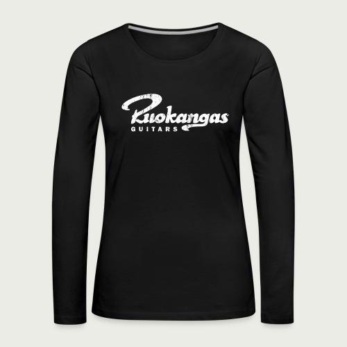 RuokangasGuitars white - Women's Premium Longsleeve Shirt