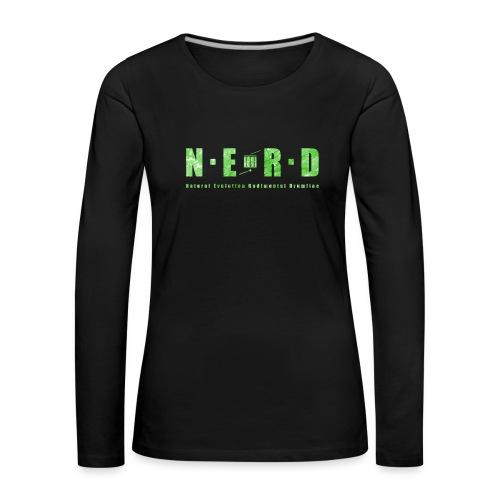 NERD Green - Dame premium T-shirt med lange ærmer