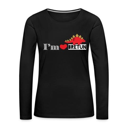 IM CORAZON BRETUN - Camiseta de manga larga premium mujer