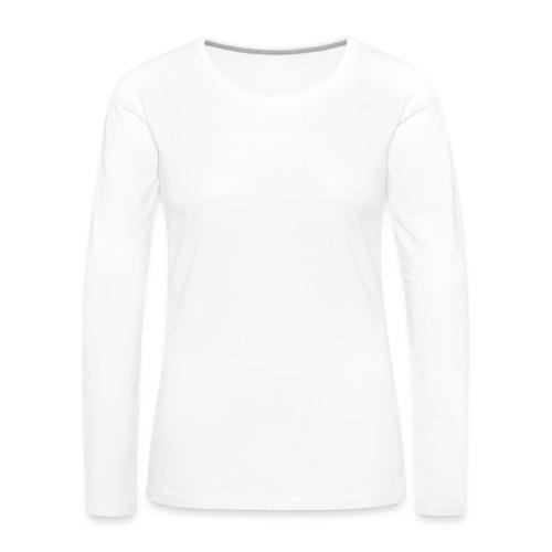 Bläkout -logo valkoinen - Naisten premium pitkähihainen t-paita