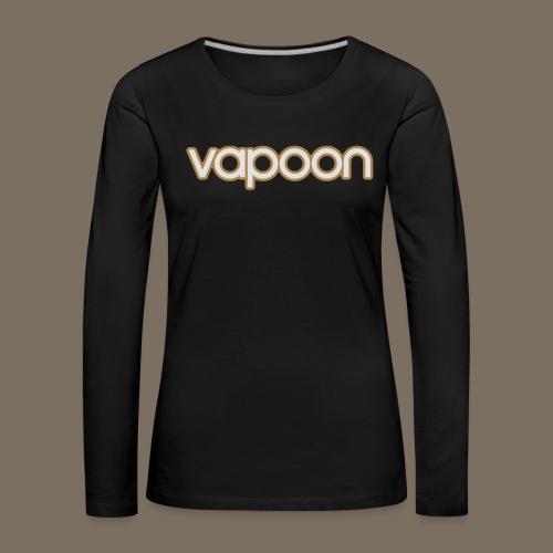 Vapoon Logo simpel 2 Farb - Frauen Premium Langarmshirt