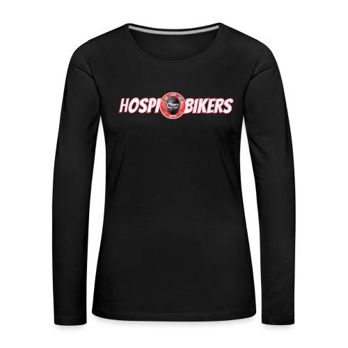 logo letras hospibikers - Camiseta de manga larga premium mujer