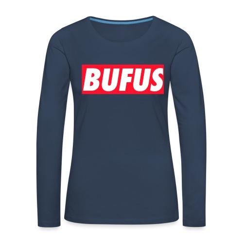 BUFUS - Maglietta Premium a manica lunga da donna
