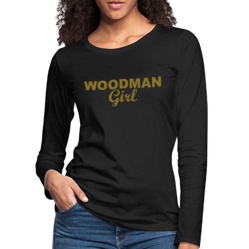 WOODMAN Girl, gold - Frauen Premium Langarmshirt