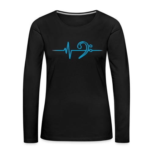 LowHeartBeatDouble cyan - Frauen Premium Langarmshirt