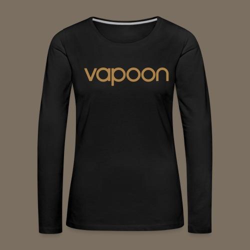 Vapoon Logo simpel 01 - Frauen Premium Langarmshirt