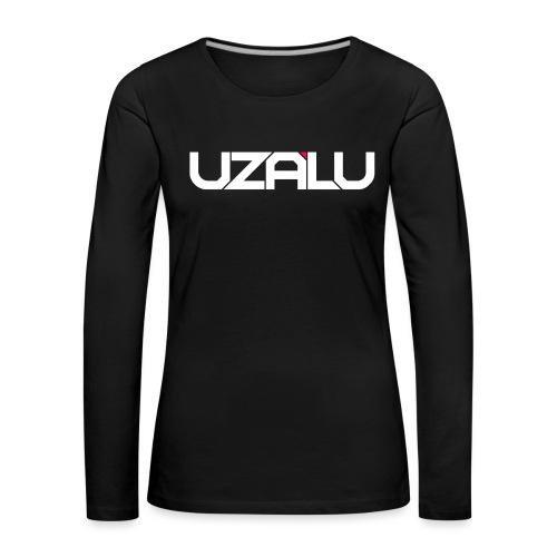 uzalu Text Logo - Women's Premium Longsleeve Shirt