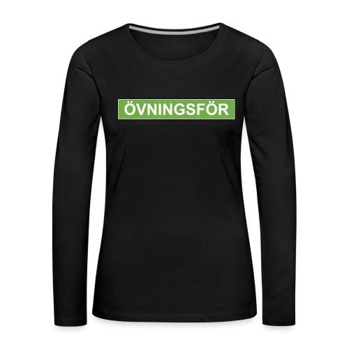 ÖVNINGSFÖR - Långärmad premium-T-shirt dam