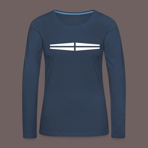 GBIGBO zjebeezjeboo - Rock - Traversant Blanc - T-shirt manches longues Premium Femme