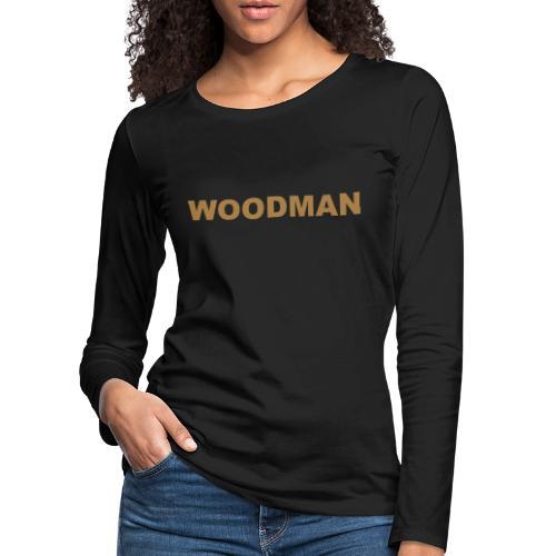 WOODMAN gold - Frauen Premium Langarmshirt