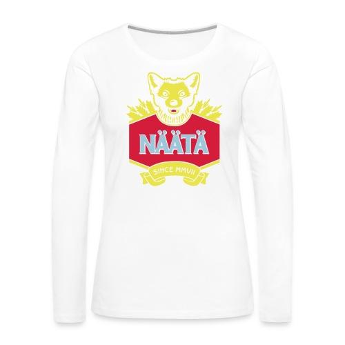 Näätä - Naisten premium pitkähihainen t-paita