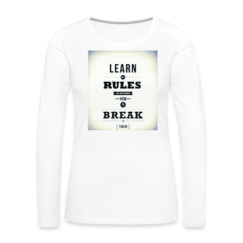 RULES - Vrouwen Premium shirt met lange mouwen