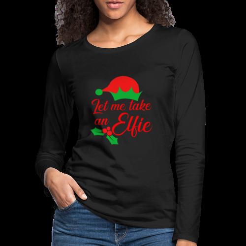 Weihnachten | Elf Mütze Weihnachtself Wortspiel - Frauen Premium Langarmshirt