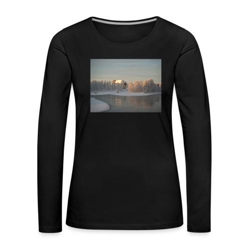 Talvinen Joensuu - Naisten premium pitkähihainen t-paita