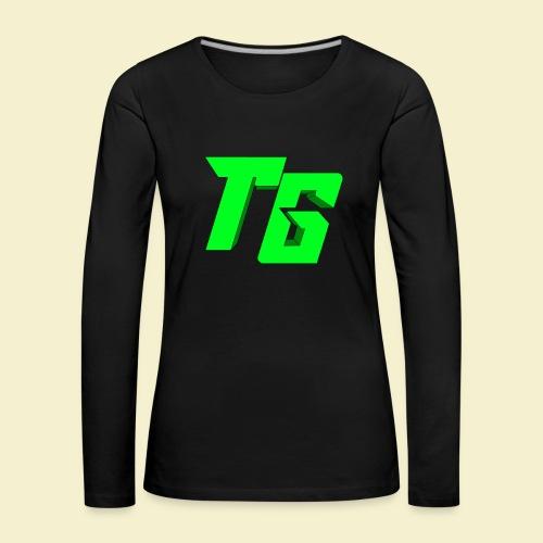 TristanGames logo merchandise [GROOT LOGO] - Vrouwen Premium shirt met lange mouwen