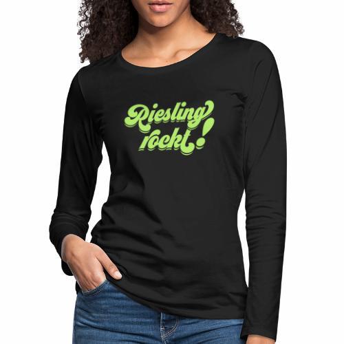 Riesling rockt - Frauen Premium Langarmshirt