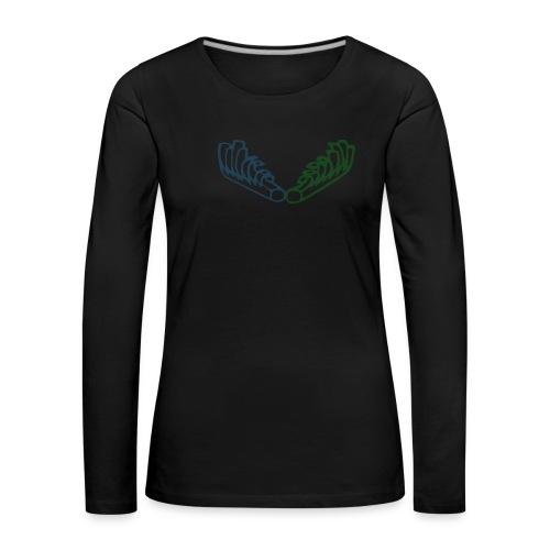 Kiehiset Technicolour - Naisten premium pitkähihainen t-paita