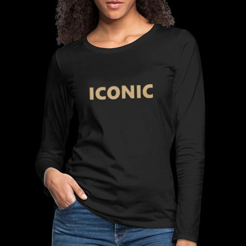 ICONIC [Cyber Glam Collection] - Women's Premium Longsleeve Shirt