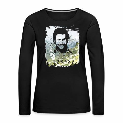 Pablo Escobar distressed - Frauen Premium Langarmshirt