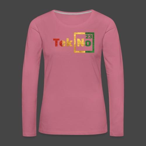 RYG TEKNO 23 - Maglietta Premium a manica lunga da donna