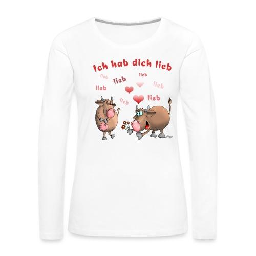 Liebe - Heiratsantrag - Frauen Premium Langarmshirt