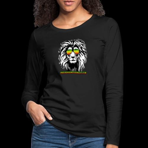 RASTA REGGAE LION - Frauen Premium Langarmshirt