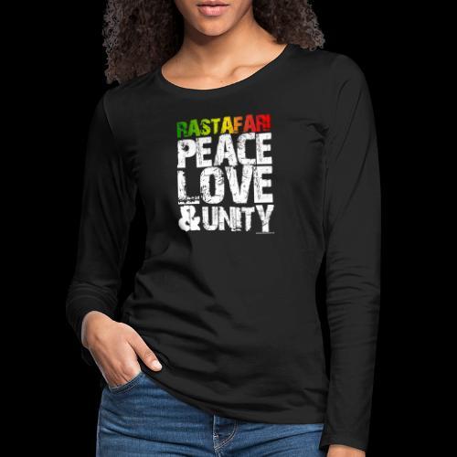 RASTAFARI - PEACE LOVE & UNITY - Frauen Premium Langarmshirt