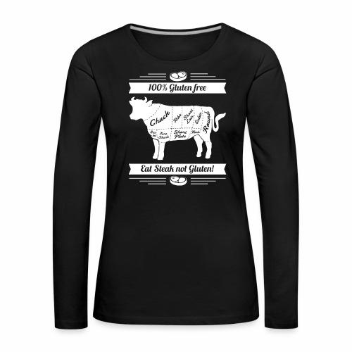 Lustiges Design für Fleisch-Fans - Frauen Premium Langarmshirt