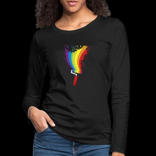 Paint roller Vivid Color - Frauen Premium Langarmshirt
