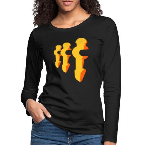 Kickerfiguren - Kickershirt - Frauen Premium Langarmshirt