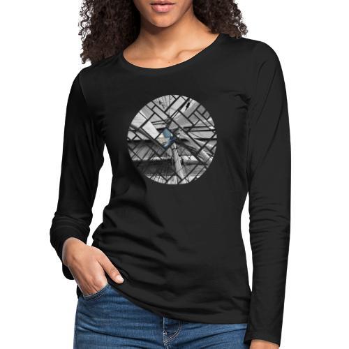 Segelschiff Grafisches Design - Frauen Premium Langarmshirt