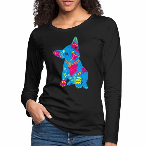 French bulldog from the 80s - Women's Premium Longsleeve Shirt
