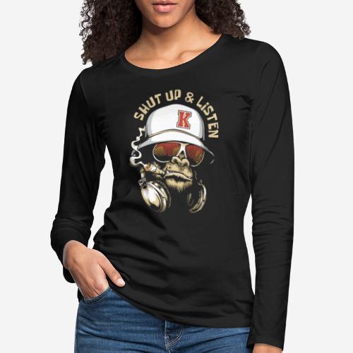 Gorillamusik - Frauen Premium Langarmshirt