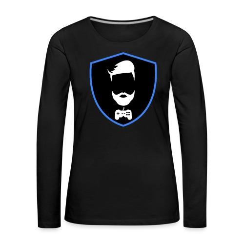 Kalzifertv-logo - Dame premium T-shirt med lange ærmer