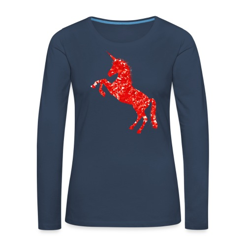 unicorn - Frauen Premium Langarmshirt