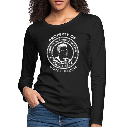 Property of your Highness RUND Black WHITE - Frauen Premium Langarmshirt