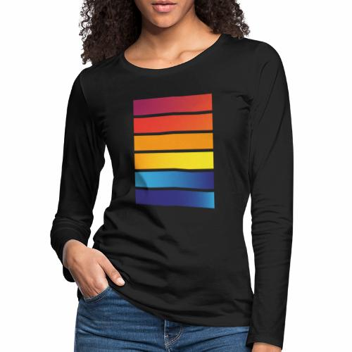 Colorful stripes - Women's Premium Longsleeve Shirt
