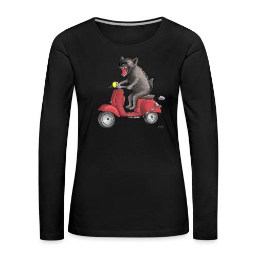 Hyäne - cooler Roller Fahrer - Frauen Premium Langarmshirt