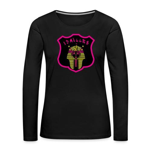 Pharaon Noir, Rose, Jaune hyper design - T-shirt manches longues Premium Femme